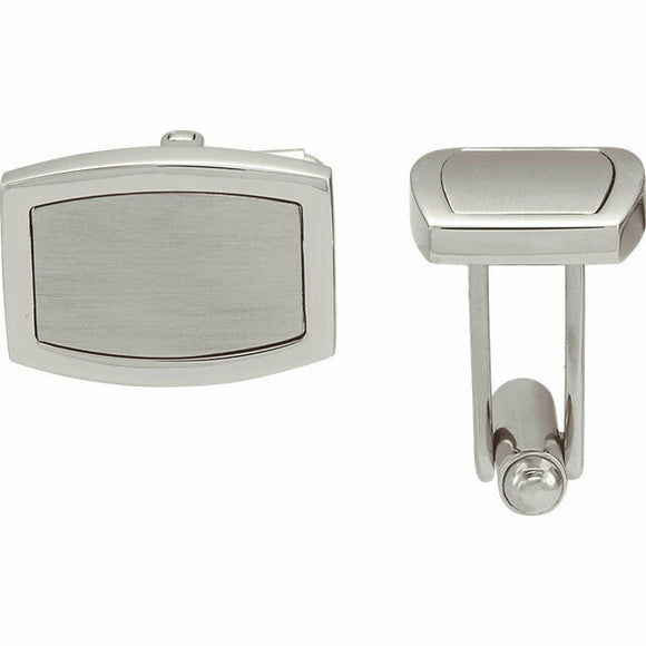 ENGRAVABLE Stainless Steel Cuff Links