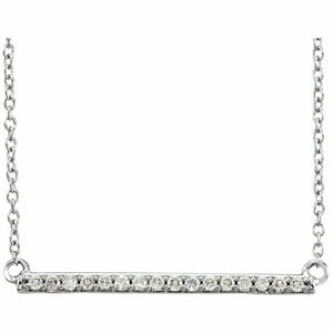 14K White Gold 1/6 CTW Diamond Bar Necklace Offers Welcome Rose Gold Yellow Gold