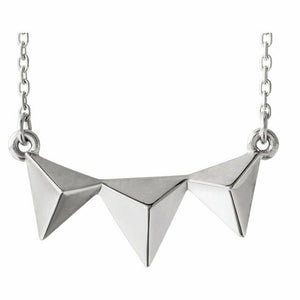 Sterling Silver Pyramid Necklace