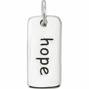 Hope Charm Sterling Silver