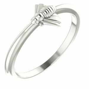 Sterling Silver Stackable Bee Ring