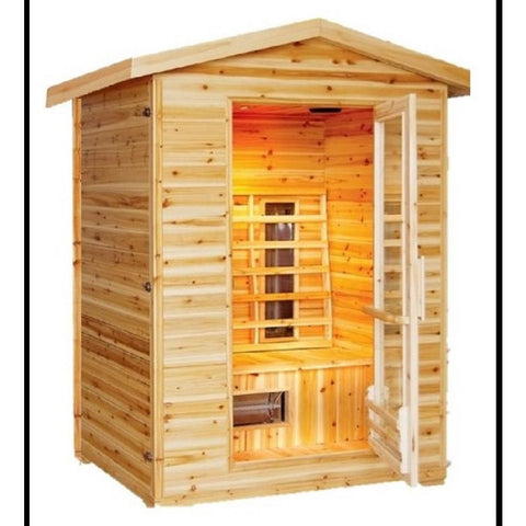 "Image of SunRay 2 Person Outdoor Burlington Infrared Sauna (HL200D) (83""H x 57""W x 46""D)-Bath Parlor"