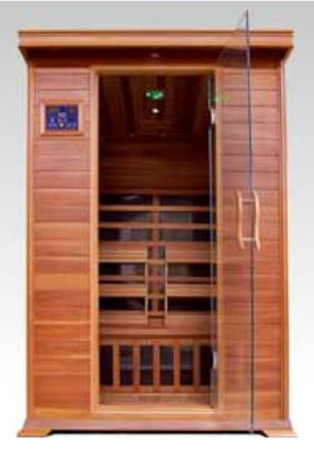 "Image of SunRay 2 Person Infrared Sauna Cedar - Sierra (HL200K) (75""H x 47""W x 45""D)-Bath Parlor"