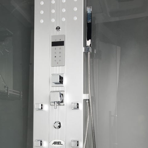 "Image of Mesa WS-500 Walk-In Steam Shower with Frosted Glass (47""L X 35""W X 85""H)-Bath Parlor"