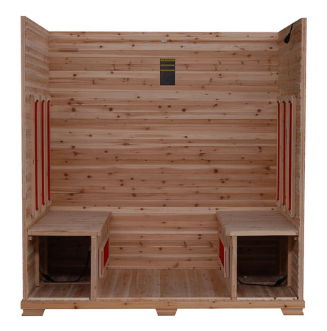 "Image of SunRay 3 Person Outdoor Grandby Infrared Sauna (HL300D) (83""H x 72""W x 47""D)-Bath Parlor"