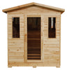 "SunRay 3 Person Outdoor Grandby Infrared Sauna (HL300D) (83""H x 72""W x 47""D)-Bath Parlor"