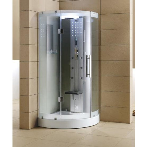 Image of Mesa WS-302 Walk-In Steam Shower with Clear Tempered Glass - Bath Parlor