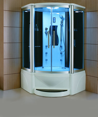 "Mesa WS-609P Steam Shower with Jetted Tub (48""L x 48""W x 85""H)-Bath Parlor"