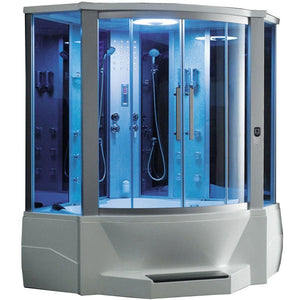 "Mesa WS-701 Steam Shower with Jetted Tub (66""L x 66""W x 87""H)-Bath Parlor"