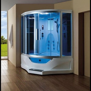 "Mesa WS-702A Steam Shower with Jetted Tub (61""L X 61""W X 89""H)-Bath Parlor"