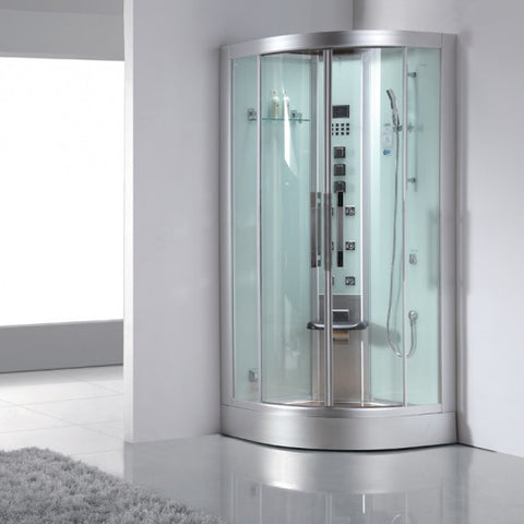 "Ariel Platinum DZ963F8 Corner Steam Shower (39""L x 39""W x 89""H)"