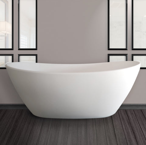 "Image of Cambridge Plumbing Double Ended Pedestal Bathtub - 71"" Cultured Marble - CM02 - Bath Parlor"