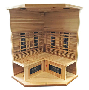 Health Mate Enrich Corner 3 Person Infrared Sauna