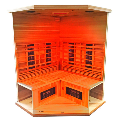 Image of Health Mate Enrich Corner 3 Person Infrared Sauna