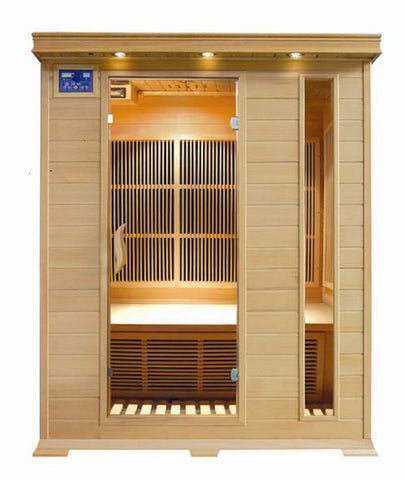 "SunRay 3 Person Indoor Infrared Sauna - Aspen (HL300K2) (75""H x 59""W x 47""D)-Bath Parlor"