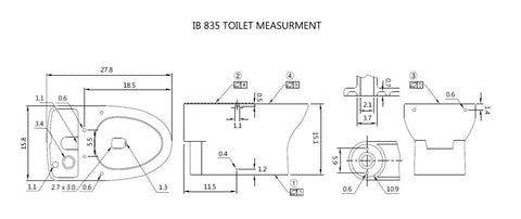 Image of Bio Bidet Luxury Toilet Bidet Combo (IB-835) - Bath Parlor