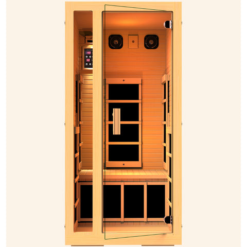JNH Lifestyles Joyous 1 Person Infrared Sauna (2019 Model) - Bath Parlor