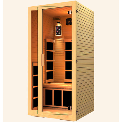 Image of JNH Lifestyles Joyous 1 Person Infrared Sauna (2019 Model) - Bath Parlor