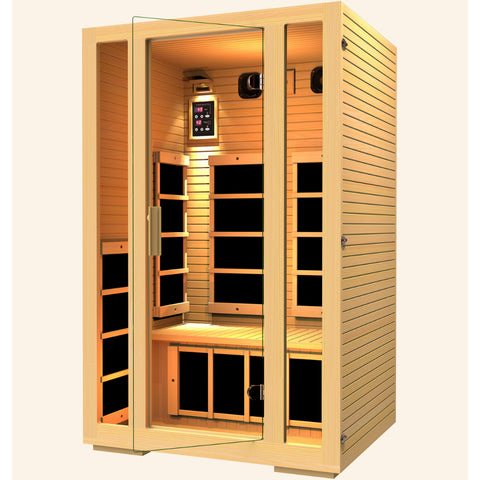 Image of JNH Lifestyles Joyous 2 Person Infrared Sauna (2019 Model) - Bath Parlor
