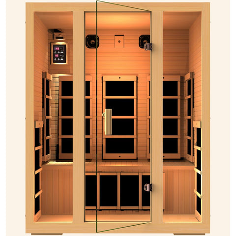 Image of JNH Lifestyles Joyous 3 Person Infrared Sauna - Bath Parlor