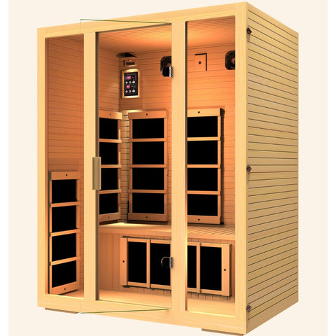 JNH Lifestyles Joyous 3 Person Infrared Sauna - Bath Parlor
