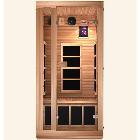 Image of JNH Lifestyles Ensi RED™ 1 Person Far Infrared Sauna (Limited Edition) - Bath Parlor