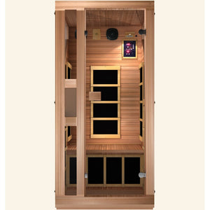 JNH Lifestyles Ensi RED™ 1 Person Far Infrared Sauna (Top Grade Red Cedar - 2019 Model) - Bath Parlor