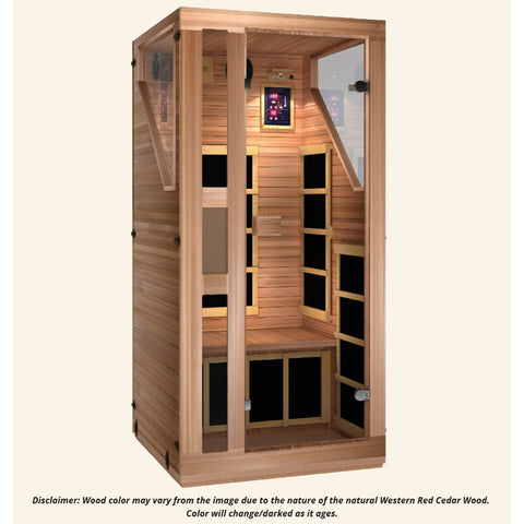 Image of JNH Lifestyles Ensi RED™ 1 Person Far Infrared Sauna (Top Grade Red Cedar - 2019 Model) - Bath Parlor