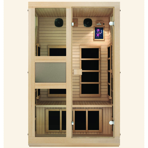 JNH Lifestyles Ensi™ 2 Person Far Infrared Sauna - Bath Parlor