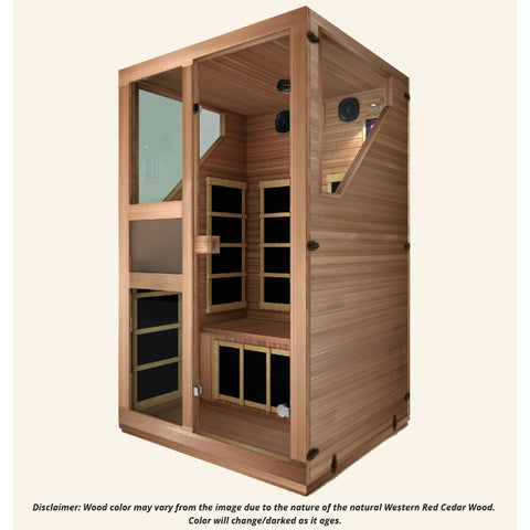Image of JNH Lifestyles Ensi RED™ 2 Person Far Infrared Sauna - Bath Parlor