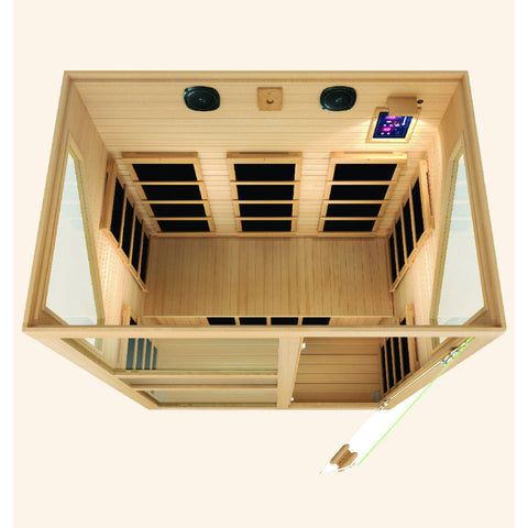Image of JNH Lifestyles Ensi™ 3 Person Far Infrared Sauna - Bath Parlor