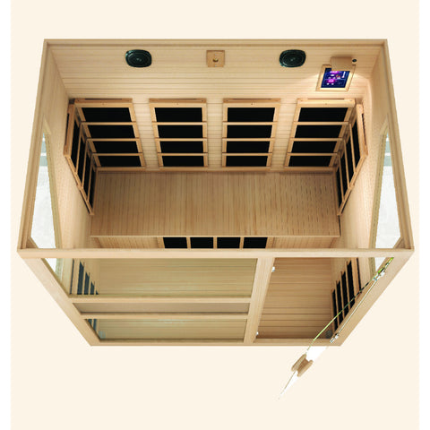 Image of JNH Lifestyles Ensi™ 4 Person Far Infrared Sauna (2019 Model) - Bath Parlor