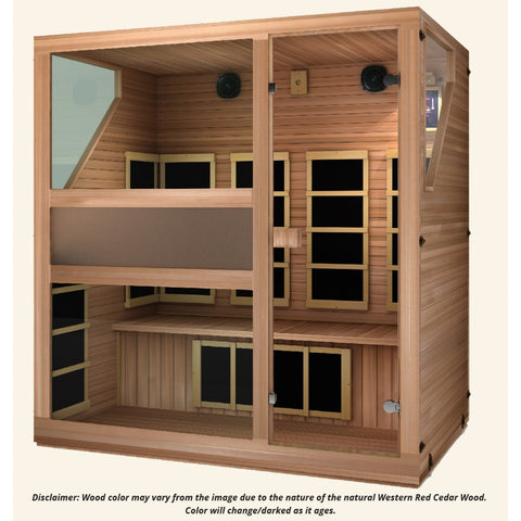 Image of JNH Lifestyles Ensi RED™ 4 Person Far Infrared Sauna (Top Grade Red Cedar) - Bath Parlor