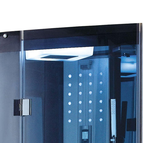 Mesa WS-300A Walk-In Steam Shower with Blue Tempered Glass - Bath Parlor