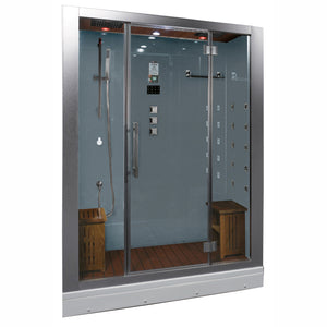 "Eago Ariel Platinum DZ972F8 Steam Shower (59""L x 32""W x 87""H)"