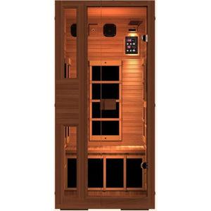JNH Lifestyles Ensi RED™ 1 Person Far Infrared Sauna (Top Grade Red Cedar) - Bath Parlor