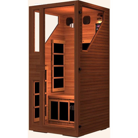 Image of JNH Lifestyles Ensi RED™ 1 Person Far Infrared Sauna (Top Grade Red Cedar) - Bath Parlor