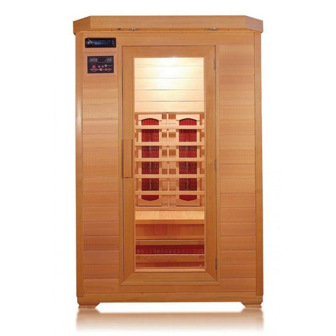 "SunRay 2 Person Kensington Infrared Sauna (HL200B) (75""H x 47""W x 45""D)-Bath Parlor"