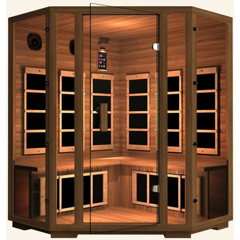 JNH Lifestyles Freedom 4 Person Corner Infrared Sauna - Bath Parlor