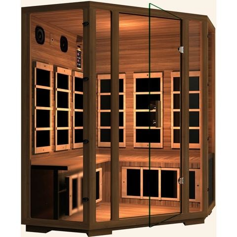 Image of JNH Lifestyles Freedom 4 Person Corner Infrared Sauna - Bath Parlor
