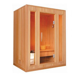 "SunRay 3 Person Southport Traditional Steam Sauna (HL300SN) (75""H x 69""W x 47""D)-Bath Parlor"