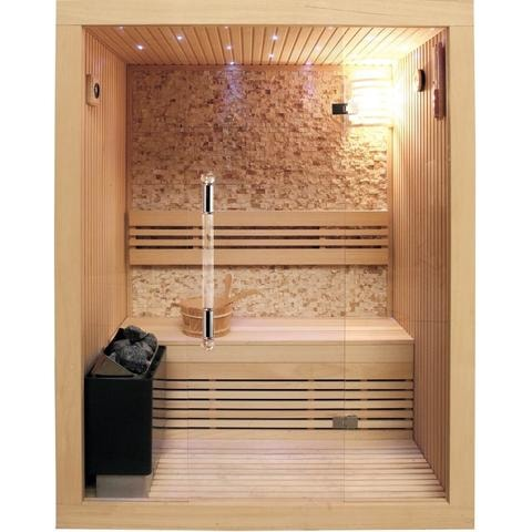 Image of SunRay 2 Person Rockledge Luxury Traditional Steam Sauna (200LX) - Bath Parlor