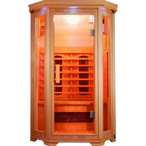 "SunRay Heathrow 2 Person Infrared Sauna (HL200W) (75""H x 47""W x 45""D)-Bath Parlor"
