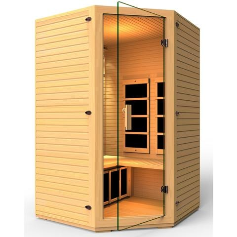 JNH Lifestyles Vivo 2 Person Corner Far Infrared Sauna - Bath Parlor