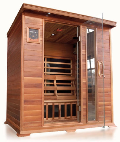 "Image of SunRay Savannah 3 Person Infrared Sauna (HL300K) (75""H x 59""W x 45""D)-Bath Parlor"