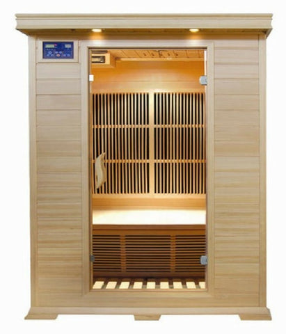 "Image of SunRay 2 Person Indoor Infrared Sauna - Evansport (HL200C) (75""H x 47""W x 45""D)-Bath Parlor"