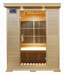 "SunRay 2 Person Indoor Infrared Sauna - Evansport (HL200C) (75""H x 47""W x 45""D)-Bath Parlor"