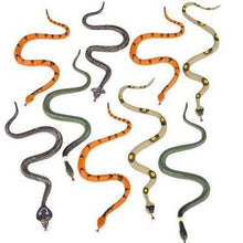 "Load image into Gallery viewer, 6"" Detailed Fake Plastic Snakes per Dozen"