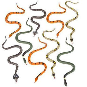 "6"" Detailed Fake Plastic Snakes per Dozen"