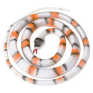 "48"" King Gray Banded Rubber Snake"